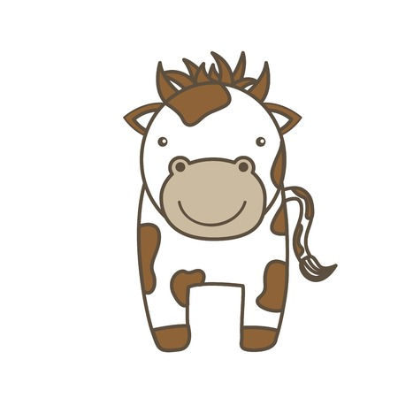 reserve: Animal farm concept represented by cow cartoon icon. Colorfull and flat illustration.
