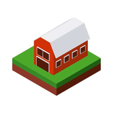 millimeter: Isometric concept represented by farm icon. Colorfull and geometric illustration.