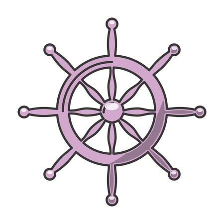 navigating: timon ship marine icon vector isolated graphic Illustration
