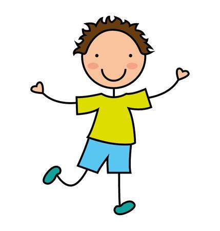 petit sourire icône garçon graphique vecteur isolé