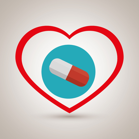 simbolo medicina: Botella de píldoras símbolo de la medicina ejemplo gráfico del vector