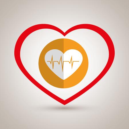 cardioid: símbolo de la medicina cardiología corazón ilustración del vector del icono Vectores