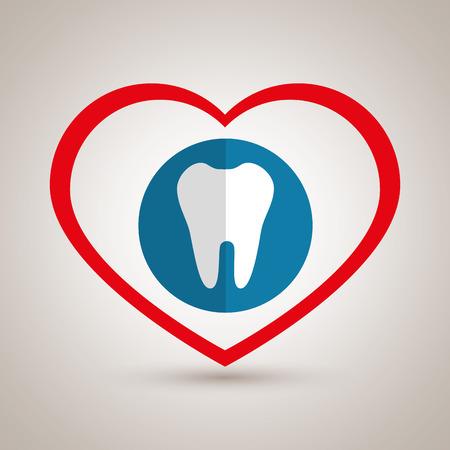 symbool geneeskunde tandarts grafische vectorillustratie Stock Illustratie