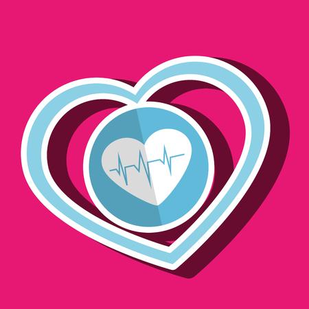 cardioid: symbol medicine heart cardiology icon vector illustration Vectores