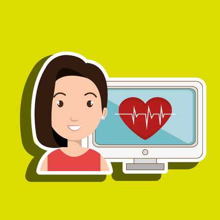 medical illustration: medical   woman graphic vector illustration