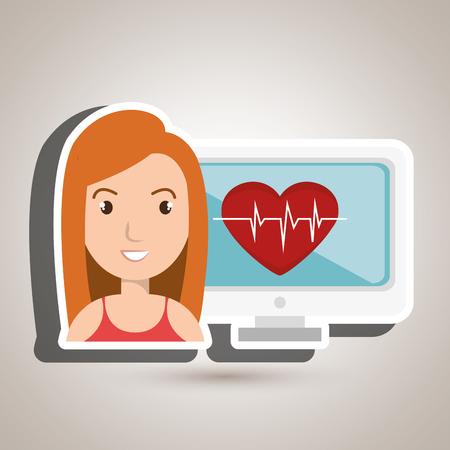 medical illustration: medical  woman graphic vector illustration Illustration