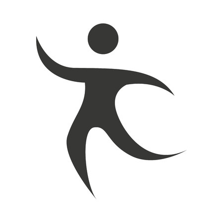 human figure: human figure silhouette sporter athlete icon vector isolated graphic