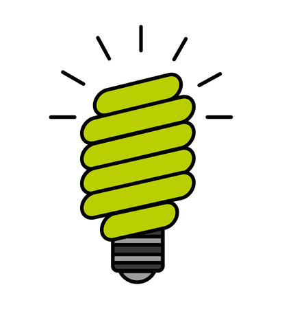bulb saver green icon vector isolated graphic