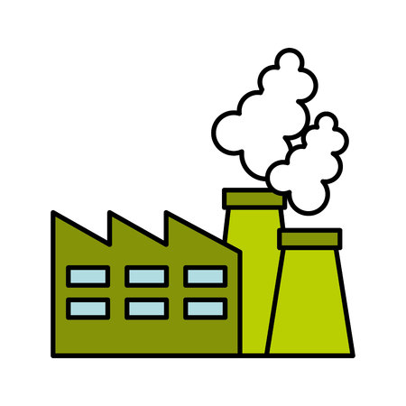 plant factory building icon green vector isolated graphic Illustration
