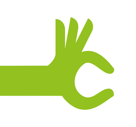 hand human green icon vector isolated graphic