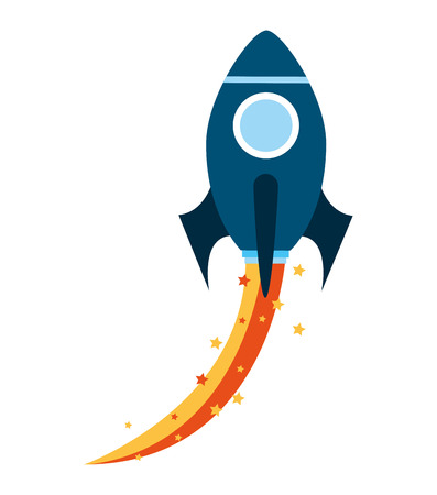 launcher: rocket launcher startup icon vector isolated graphic