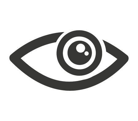 view icon: eye human view icon vector isolated graphic Illustration