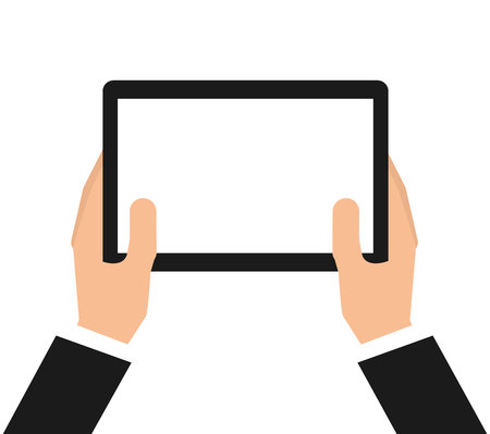 portable: tablet technology portable icon vector isolated graphic Illustration