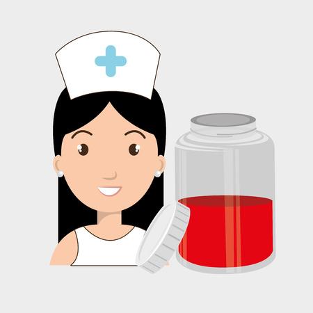 nurse crooss smartphone graphic vector illustration eps 10
