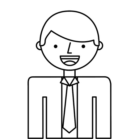 nice guy: man businessman cartoon character icon vector isolated graphic