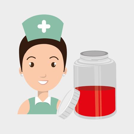 salvavidas: ejemplo gráfico del vector teléfono inteligente enfermera crooss eps 10