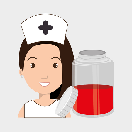 donor blood type: nurse crooss smartphone graphic vector illustration eps 10
