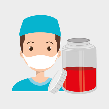transfused: nurse crooss smartphone graphic vector illustration eps 10