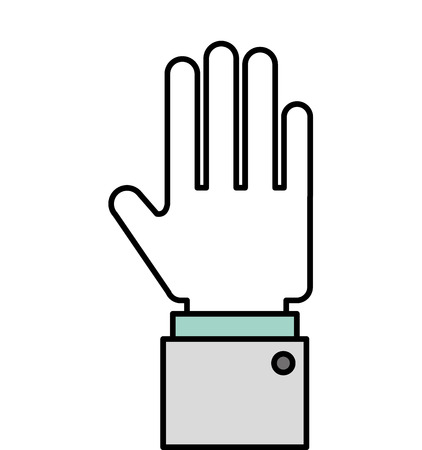hand stop: hand stop symbol icon vector isolated graphic