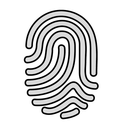 dactylogram: fingerprint access human icon vector isolated design