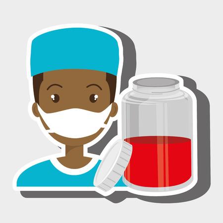 nurse   graphic vector illustration Illustration