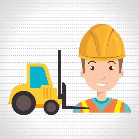 topografo: man construction tool work vector illustration graphic