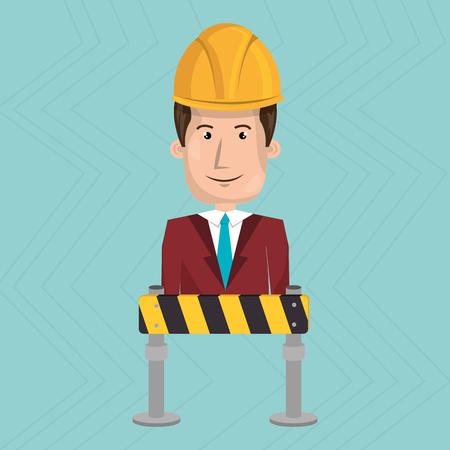 man construction tool work vector illustration graphic