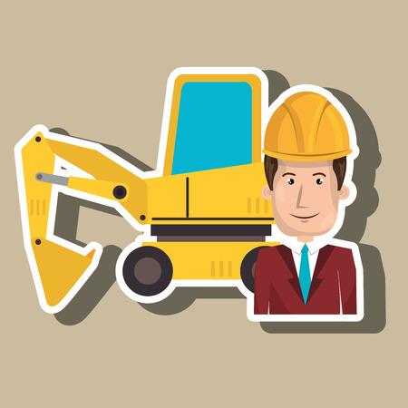 blazer: man construction tool work vector illustration graphic