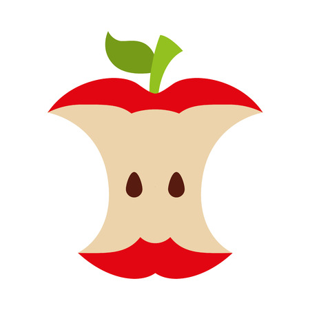 organic garbage recycle fruit icon vector illustration design