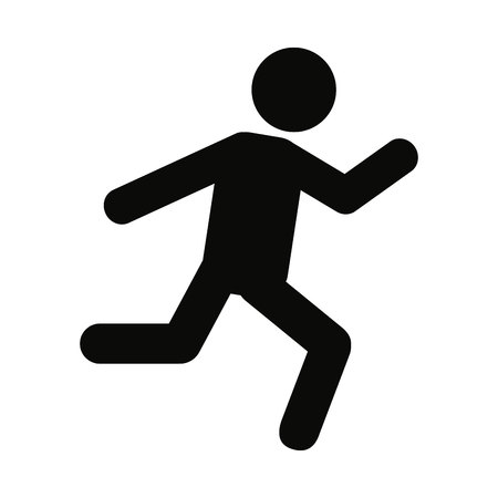 person running silhouette icon vector illustration design Banco de Imagens - 60564453