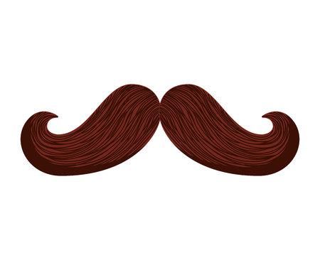 moustache hipster style icône illustration vectorielle design Vecteurs