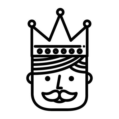 coronation: crown king drawn icon vector illustration design