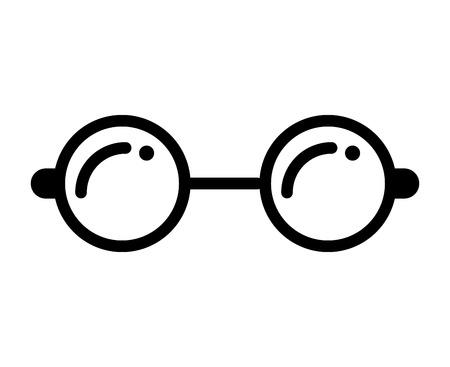 ocular: glasses view wear icon vector illustration design