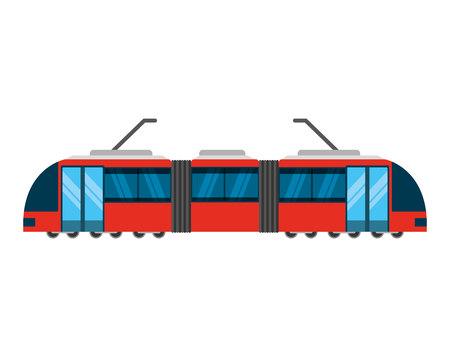public service: tram transport public service icon vector illustration design