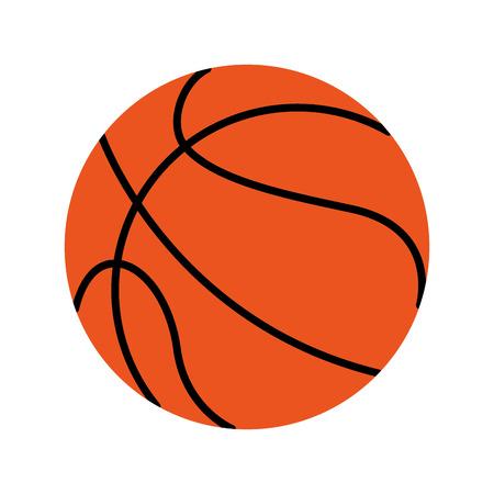 balon de basketball: con balón de baloncesto icono de la bola ilustración vectorial de diseño Vectores