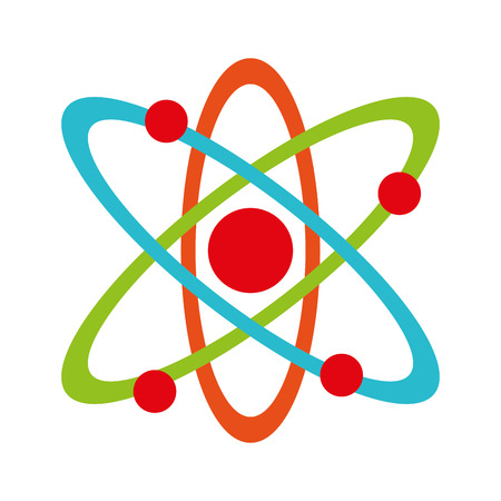 molecule atom partile icon vector illustration design