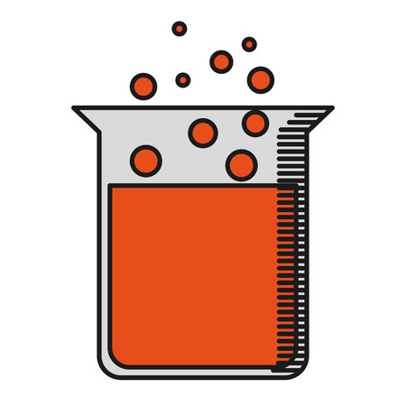 test glass: tube test glass icon vector illustration design
