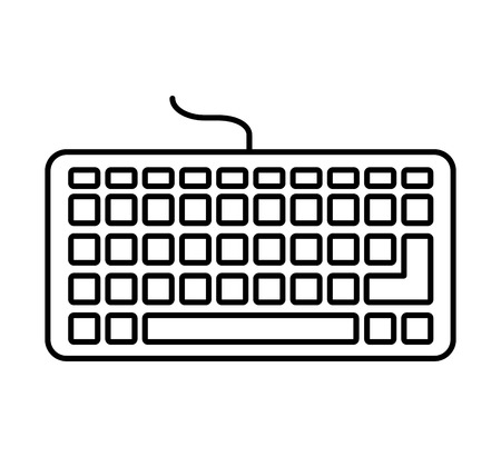 keyboard hardware computer icon vector illustration design