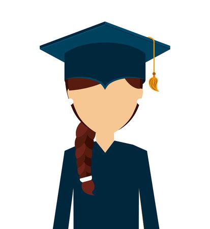 graduated: man graduation graduated icon vector illustration design