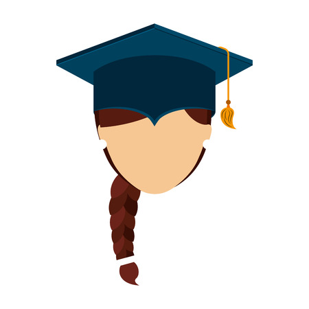 man graduation graduated icon vector illustration design