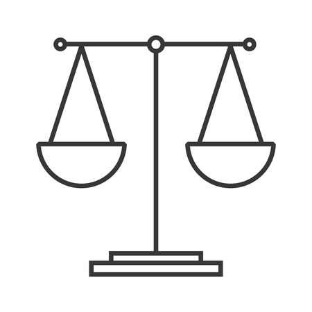 balance equality scale icon vector isolated design