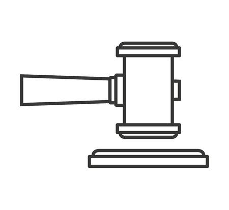 jurisdictions: hammer wood gavel icon vector isolated design