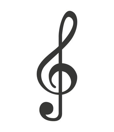 nota di musica silhouette icona illustrazione vettoriale progettazione