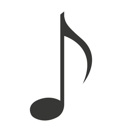 note music silhouette icon vector illustration design