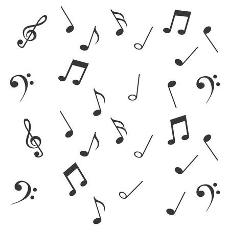 key signature: notes music sheet pattern icon vector illustration design Illustration