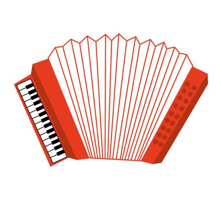 symphonic: acordion musical instrument icon vector illustration design