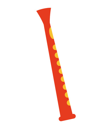 flute: flute air instrument icon vector illustration design