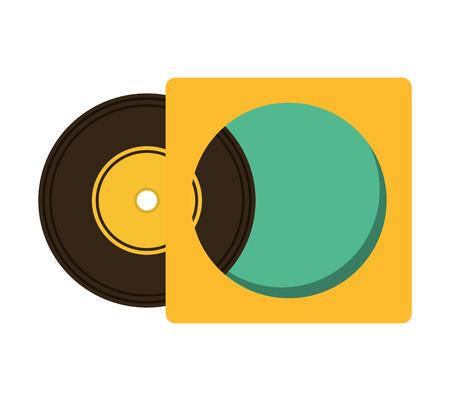 music vinyl retro icon vector illustration design