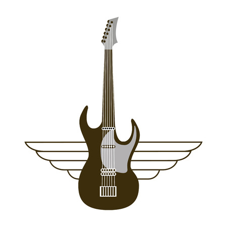 concert grand: guitar electric musical instrument icon vector illustration design Illustration