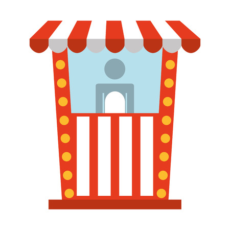design office: ticket office cinema icon vector illustration design